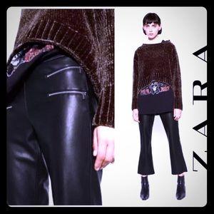Zara cropped leather pants